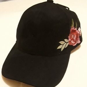 Ladies  BLACK  CAPS  WITH EMBROIDERY